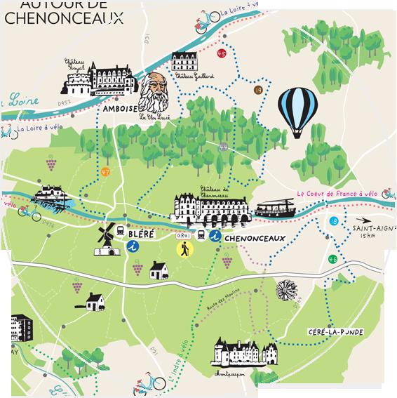 Maps Autour de Chenonceaux