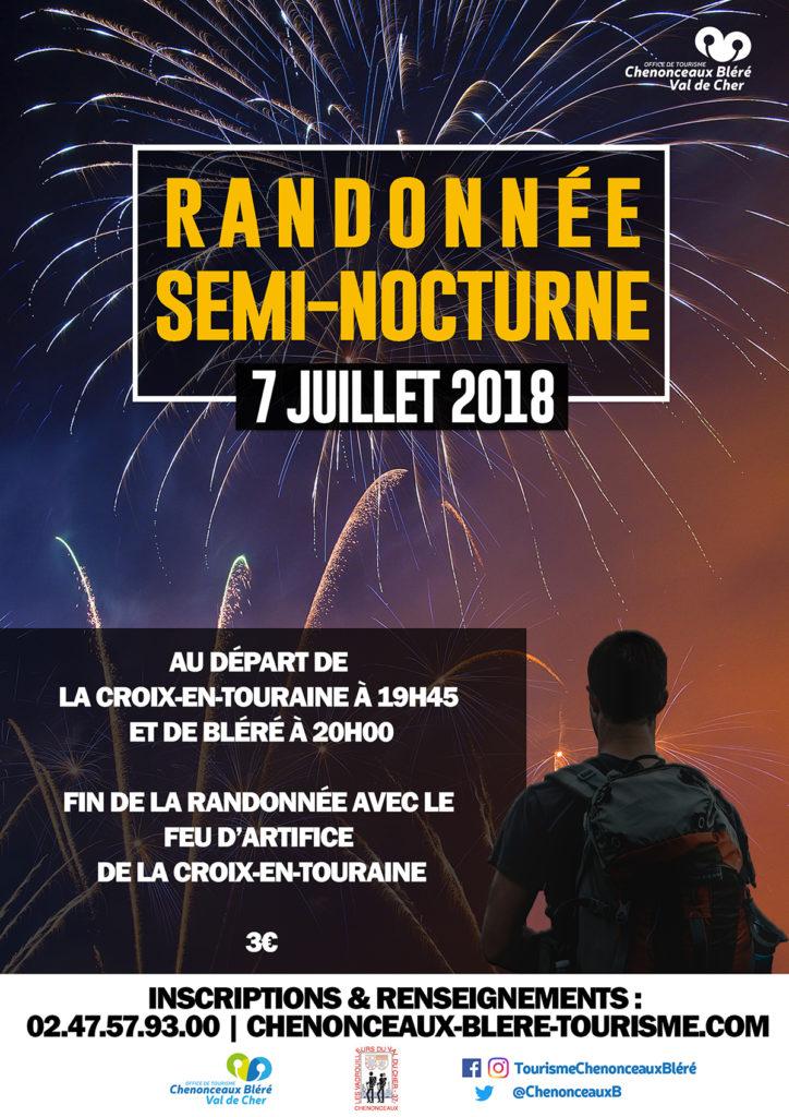 Randonnée semi-nocturne 2018, Bléré, La-Croix-en-Touraine
