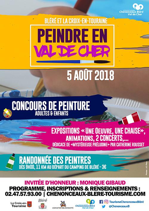 Peindre en val de cher 2018, Bléré, La-Croix-en-Touraine