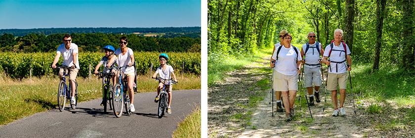 Randonnée à vélo, Randonnée à pied