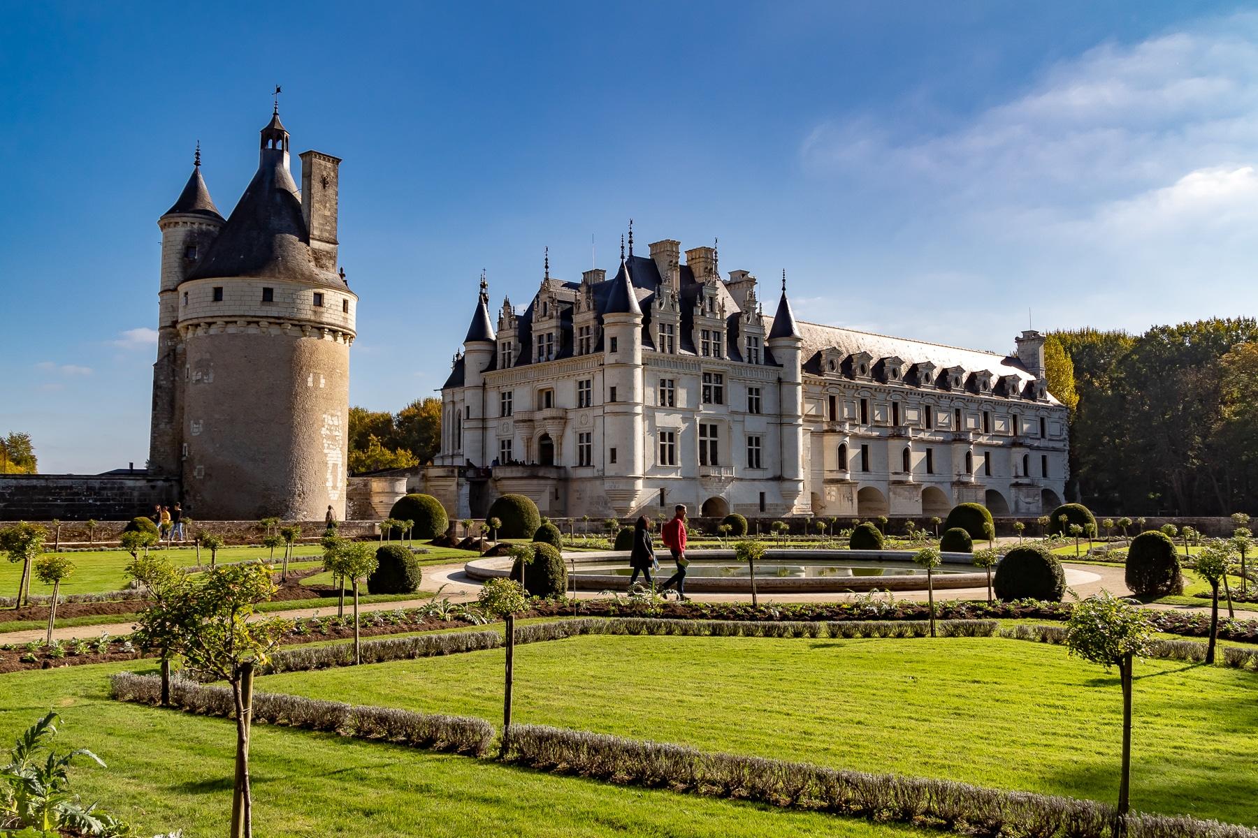 Château de Chenonceau, Automne, Fleurs