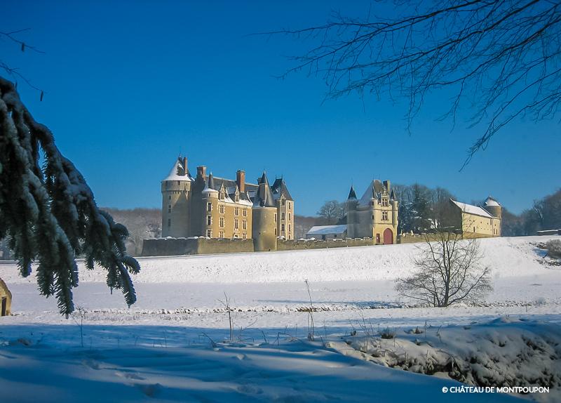 Château de Montpoupon, Noël, Neige