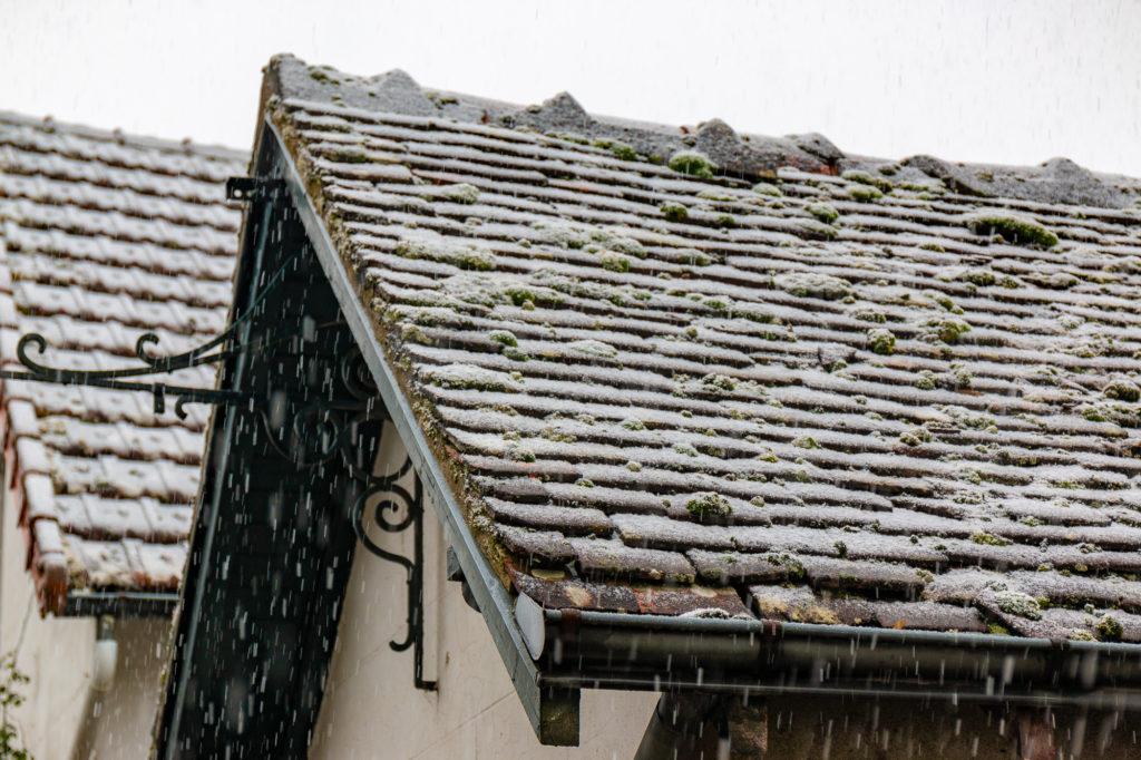 neige sur les toits de Chenonceaux