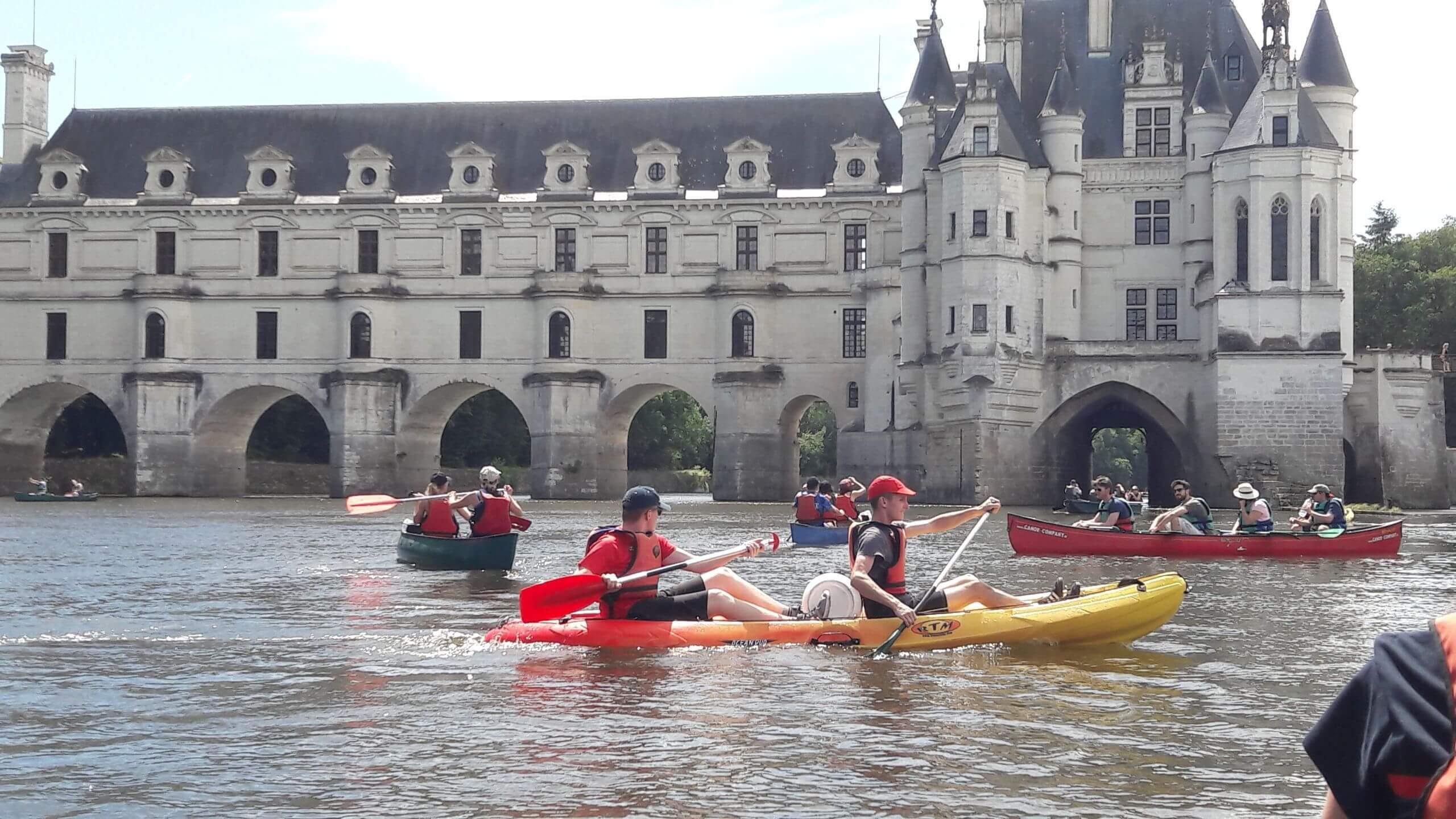 Canoë et Kayak sur le Cher, sous le château de Chenonceau