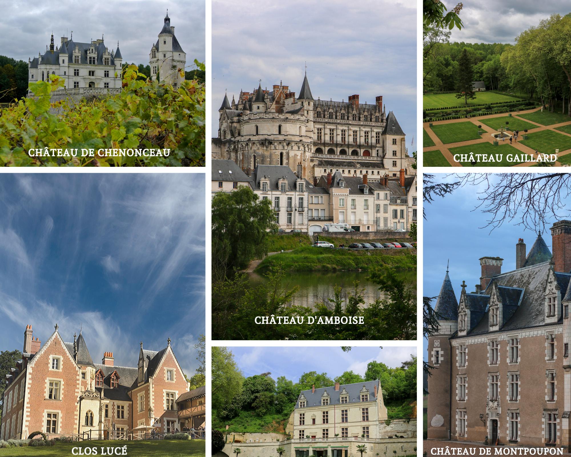chateau autour de chenonceaux amboise montpoupon chenonceau gaillard clos luce royal vallee de la loire tourisme visite